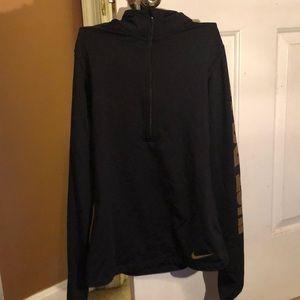 Nike Dri- fit black half zip jacket